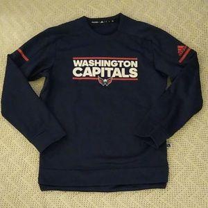 Adidas NHL Washington Capitals LS Player Crew M